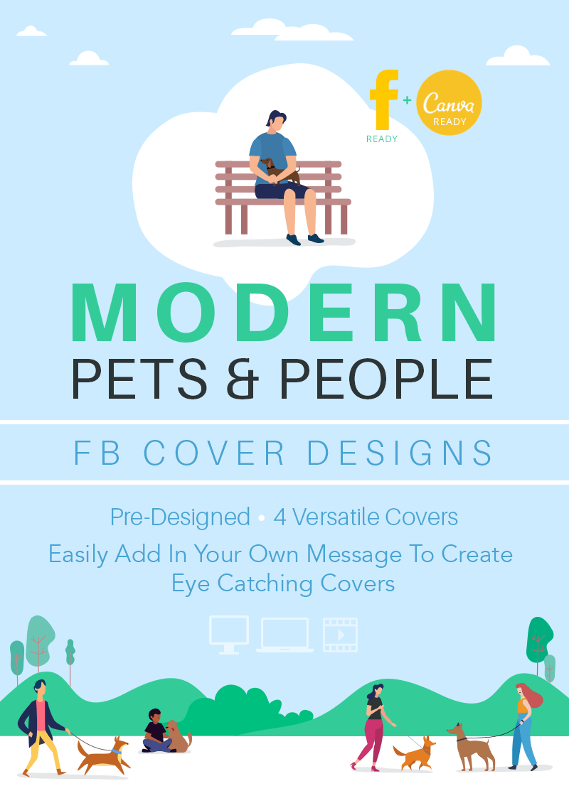 Pet business Facebook cover design set for pet walkers and dog lovers by Sniff Design Studio