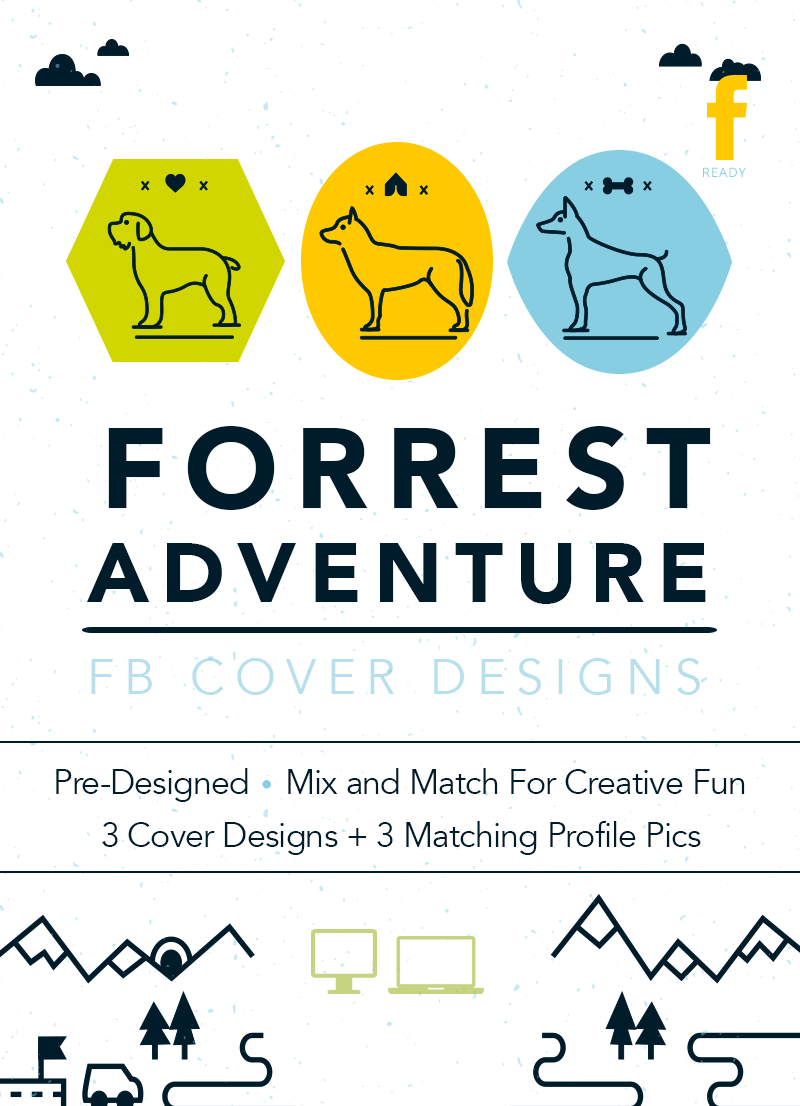 Feature image for pet themed Facebook cover design set on sale for dog lovers and pet business owners by Sniff Design Studio