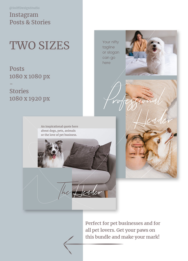 Pets Celebrated Vol. 2 Social Media Bundle for sale by Sniff Design Studio
