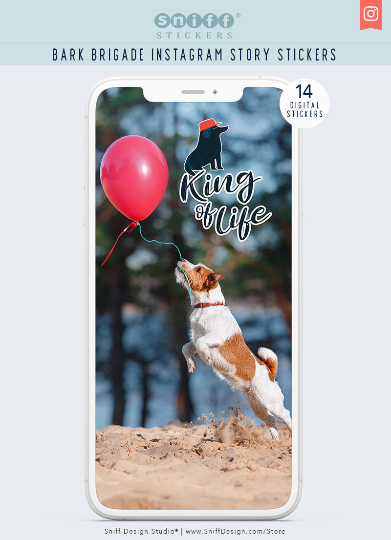 Bark Brigade Dog Instagram Story Sticker Set for sale by Sniff Design Studio