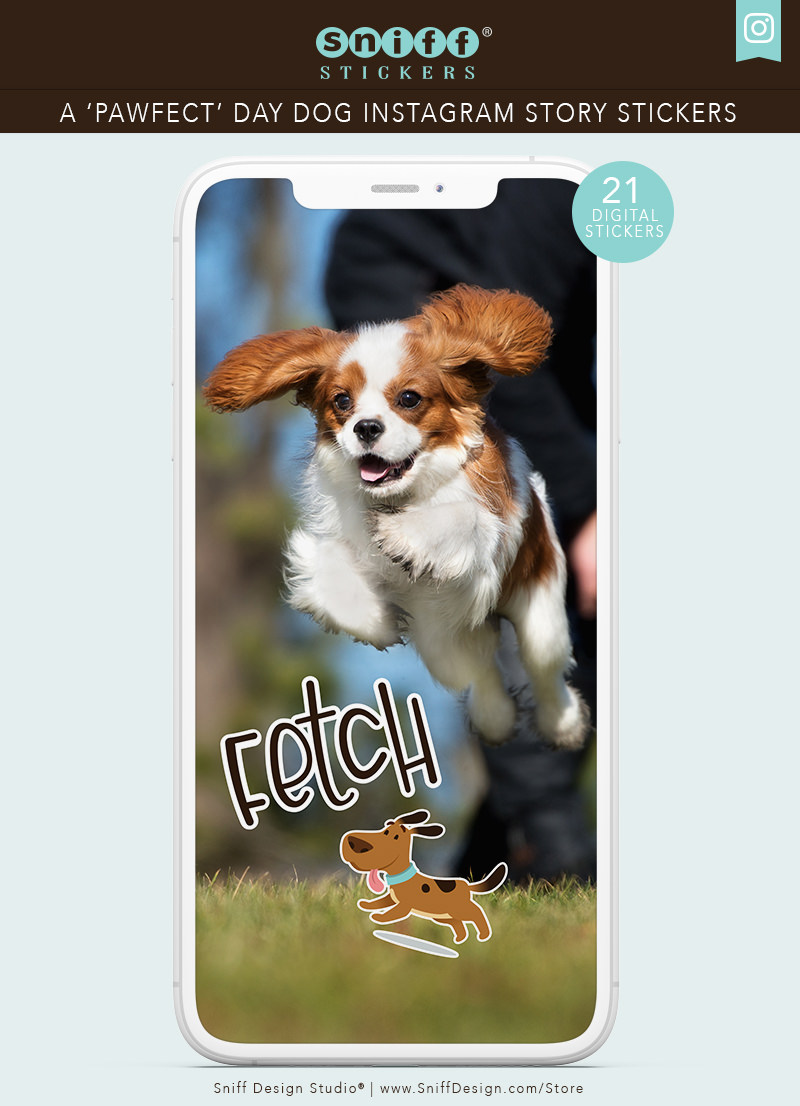 A Pawfect Day Dog Instagram Story Sticker Set for sale by Sniff Design Studio