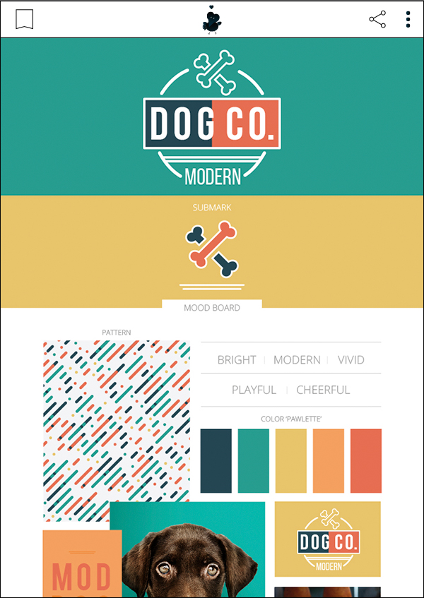 A Modern Dog - Premade Pet Business Branding Kit For Sale by Sniff Design Basics. Sister company of Sniff Design Studio
