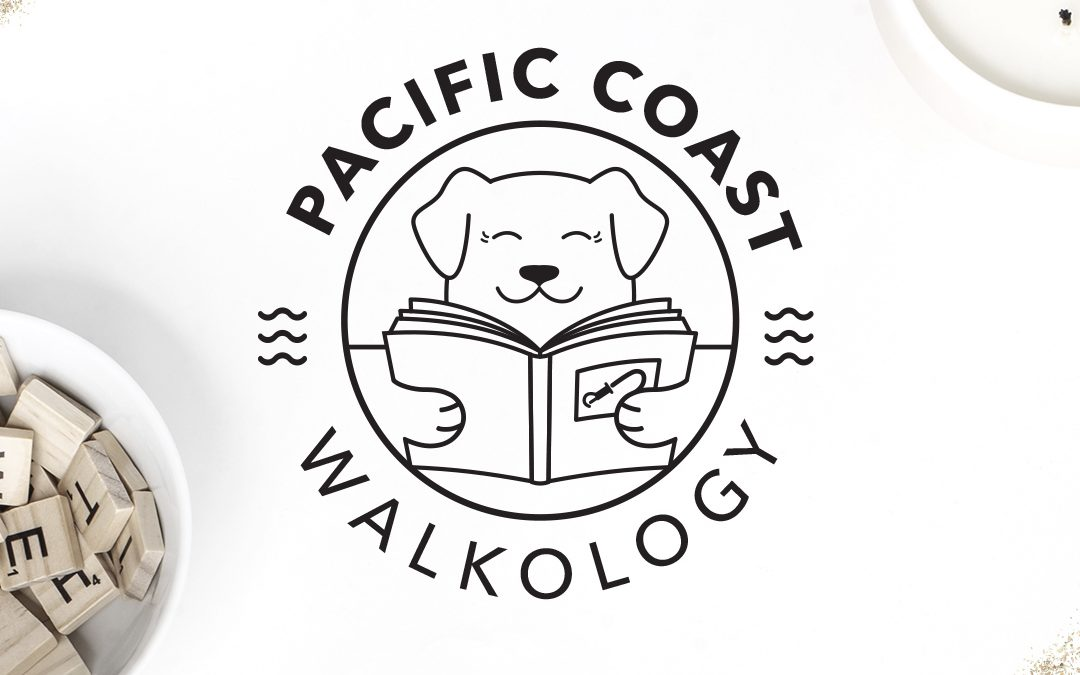 Dog Walking Logo Design for Pacific Coast Walkology