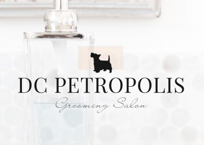 Pet Grooming Logo and Web Design for DC Petropolis Grooming Salon