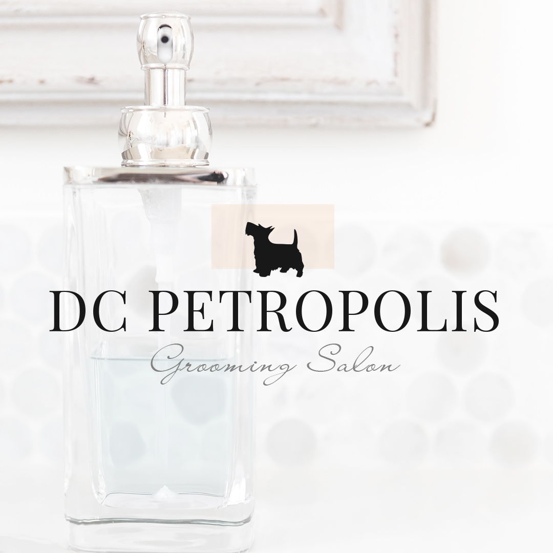 Pet Grooming Logo Design for DC Petropolis Grooming Salon by Sniff Design Studio
