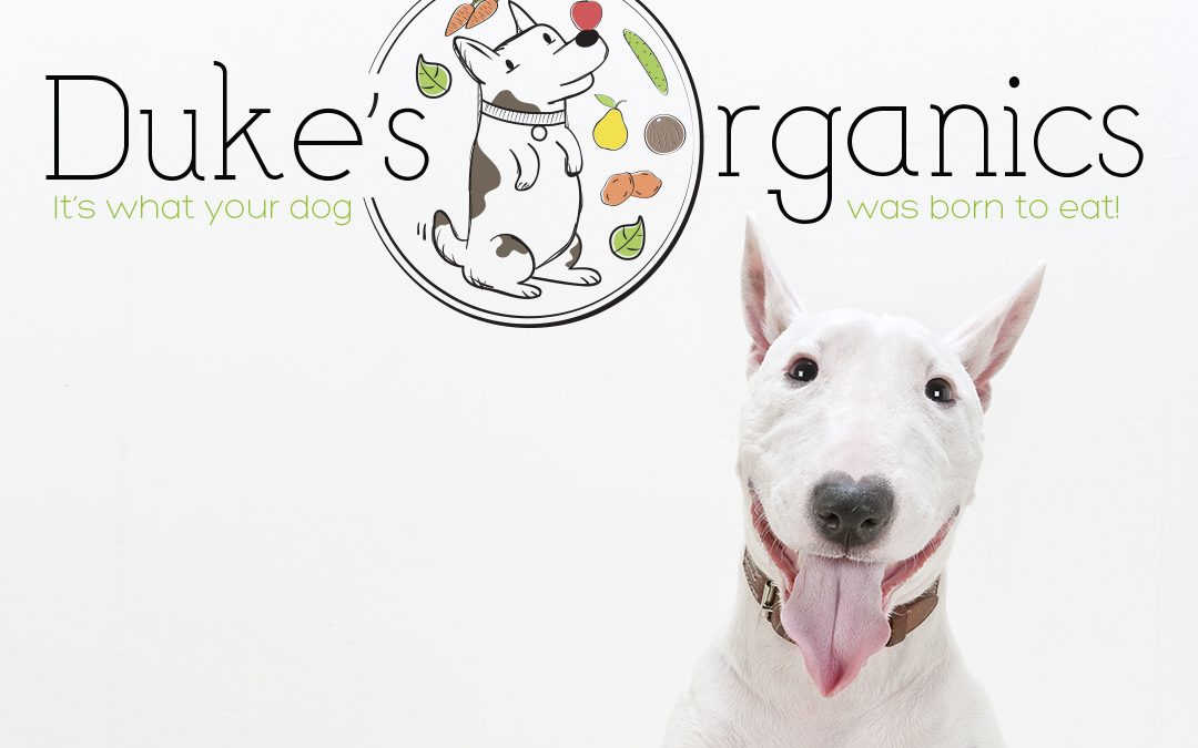 Pet Treat Logo and Label Package Design for Duke's Organics