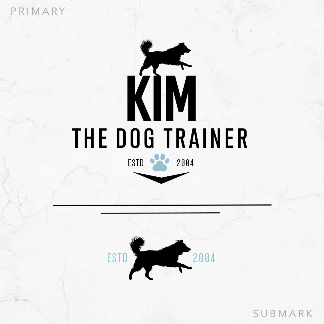 Dog Training Logo and Sub Mark Design for Kim The Dog Trainer by Sniff Design Studio