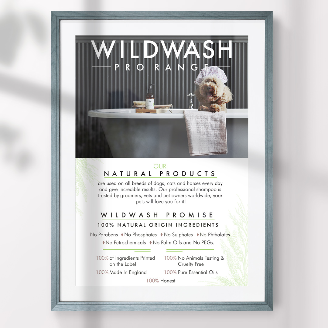 Pet Business Poster Design for WildWash Co UK by Sniff Design Studio