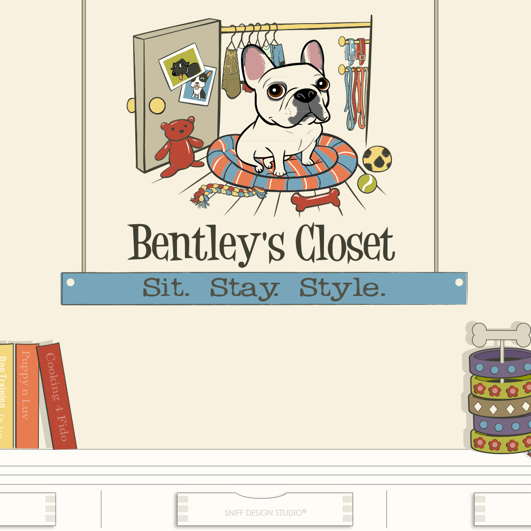 Custom Pet Fashion Illustrations for Bentley's Close Pet Boutique by Sniff Design Studio 2