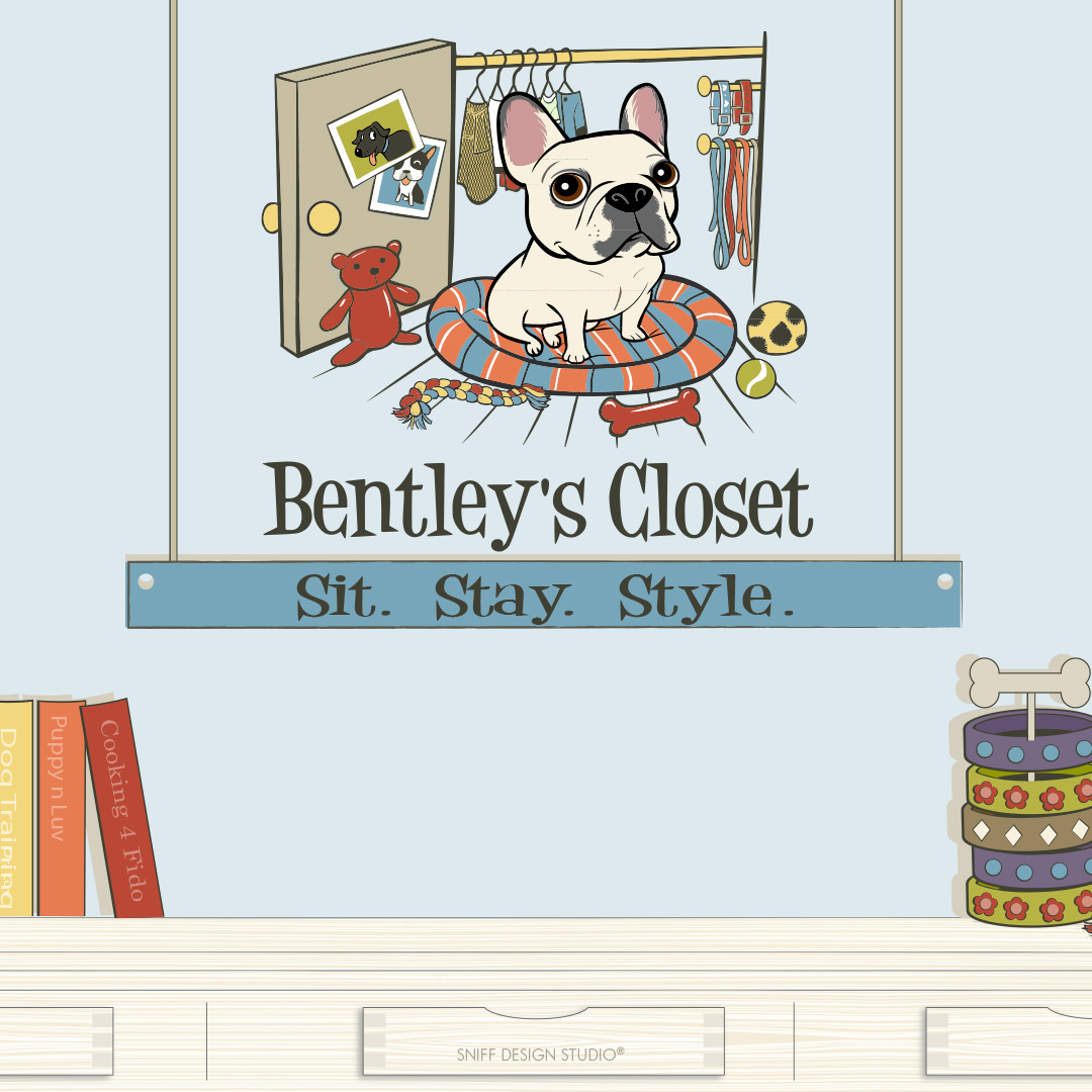 Custom Pet Fashion Illustrations for Bentley's Close Pet Boutique by Sniff Design Studio 5