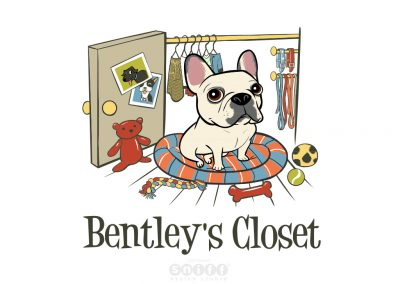 Pet Branding Illustration and Design for Bentley's Closet Pet Boutique