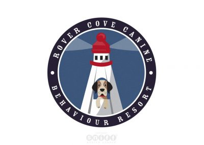 Pet Logo Design and Submark for Rover Cove Canine Behavior Resort