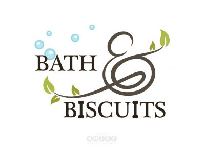 Pet Website Design and Branding Illustration for Bath & Biscuits