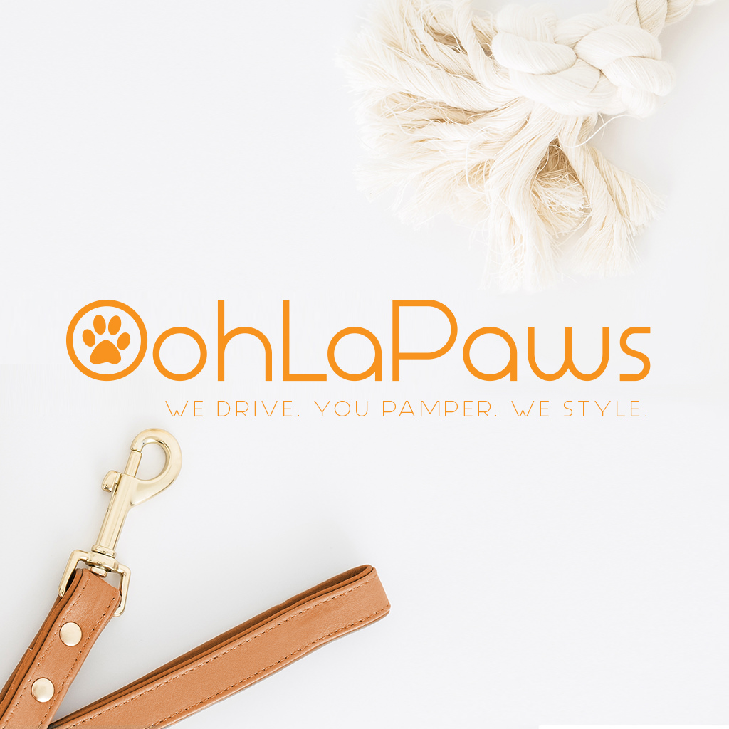 OohLaPaws Pet Grooming Branding Design and Canine Color Palette and Illustration by Sniff Design Studio