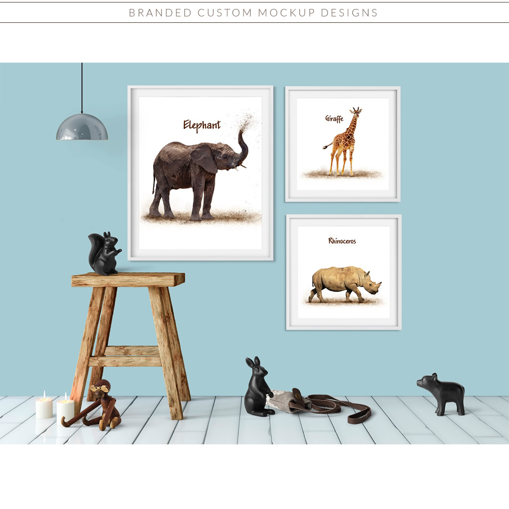 Custom Branded Mockup Design for Good Focused Pet Photography by Sniff Design Studio