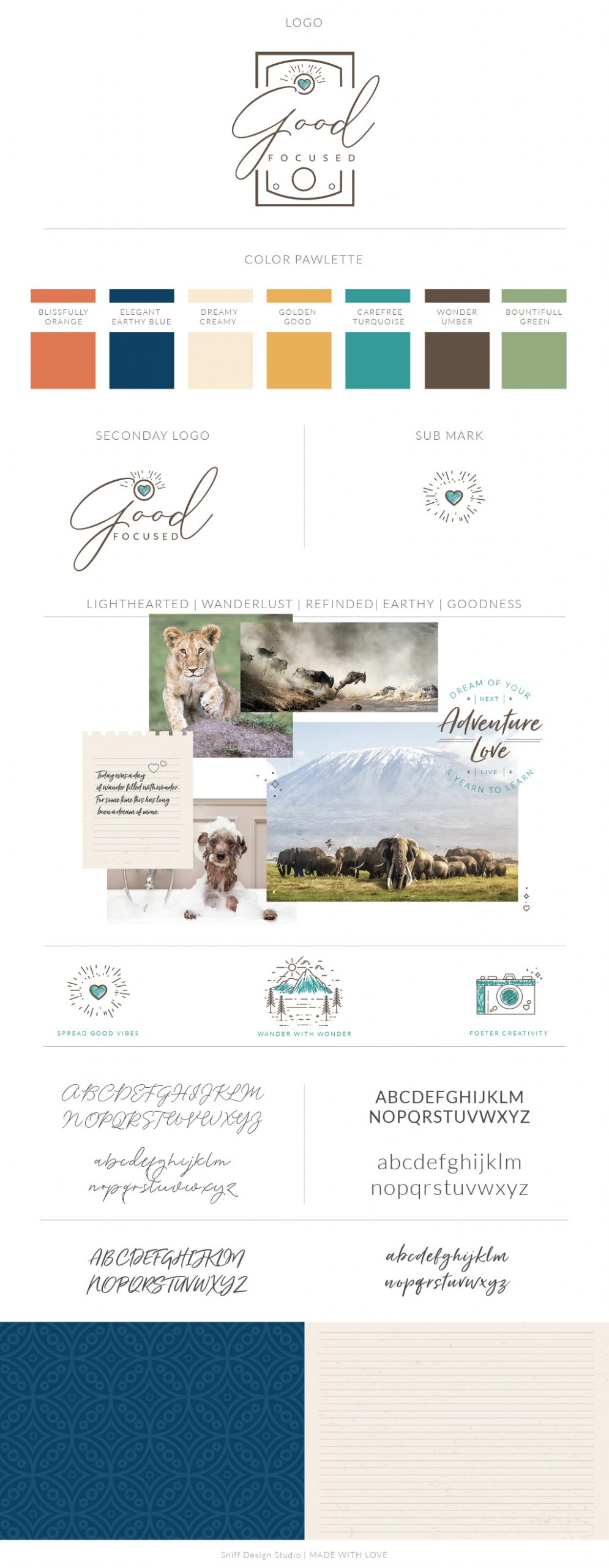 Branding design for Good Focused Pet Photography by Sniff Design Studio