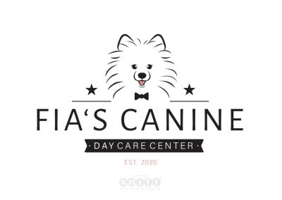 Pet Logo Design and Branding Illustration for Fia's Canine Daycare Center