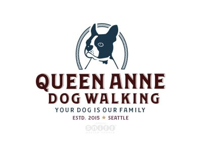 Pet Logo Design and Branding for Queen Anne Dog Walking