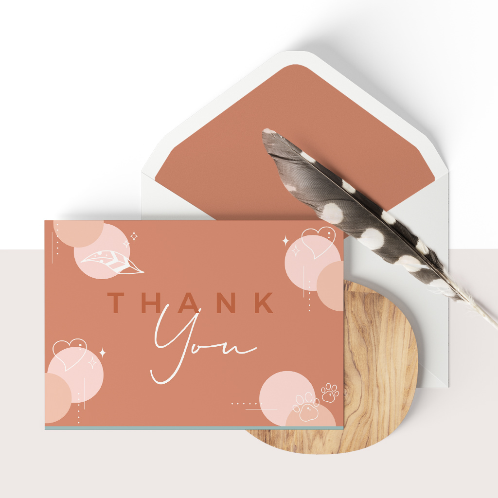 Client Thank You Card Design for Inspired By Animals