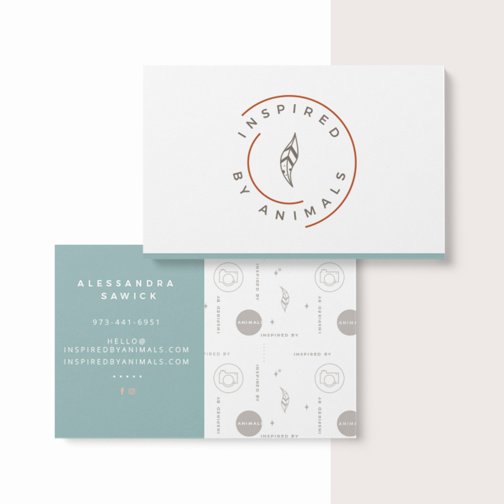 Pet Business Card Design for Inspired By Animals