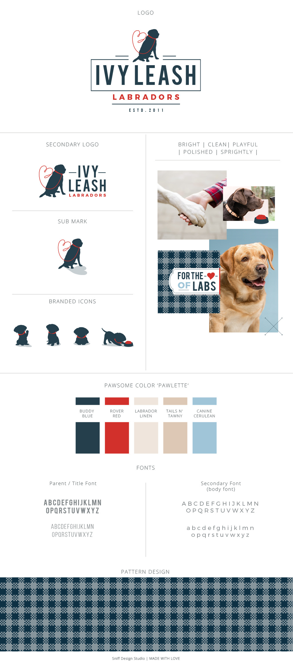 Ivy Leash Labradors Branding Design by Sniff Design Studio