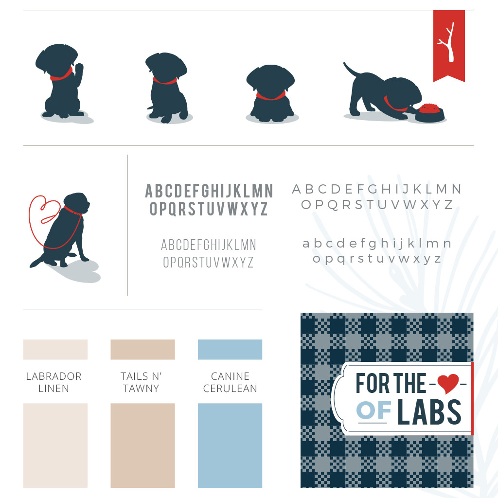 Pet business branding and color design for Ivy Leash Labradors