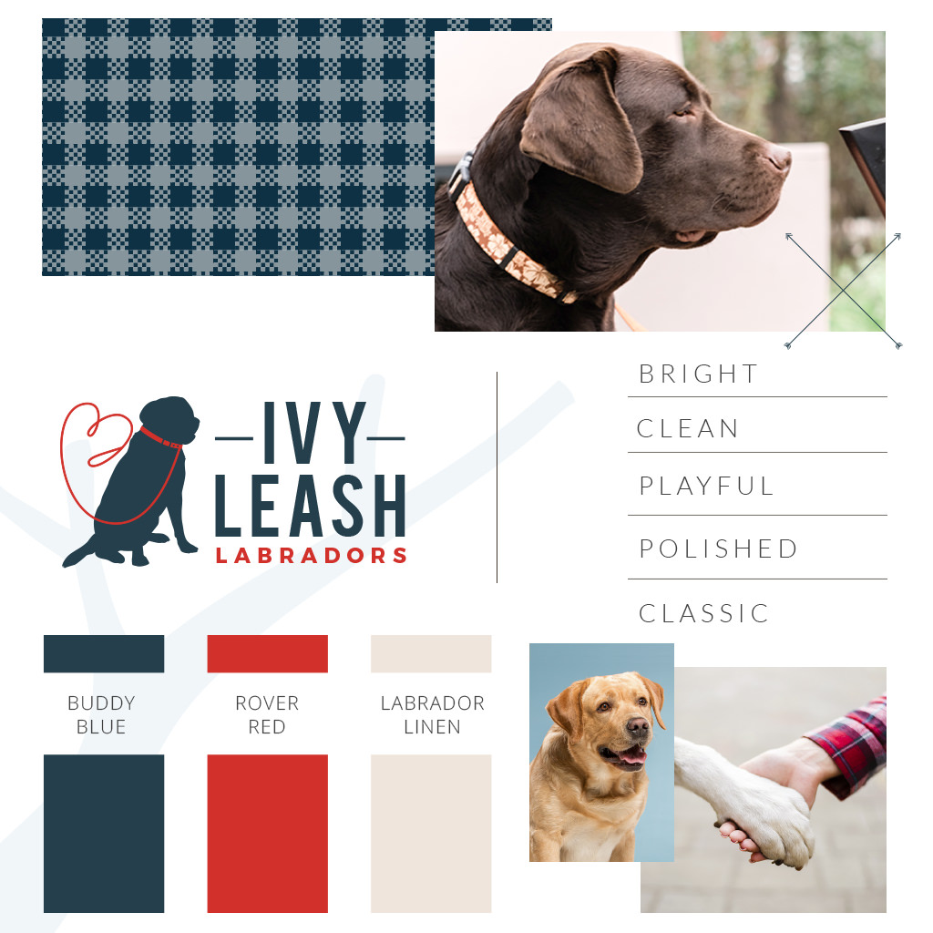 Pet business branding and design for Ivy Leash Labradors by Sniff Design Studio