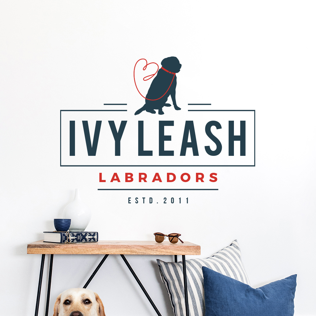 Pet business logo design showcase for Ivy Leash Labradors by Sniff Design Studio